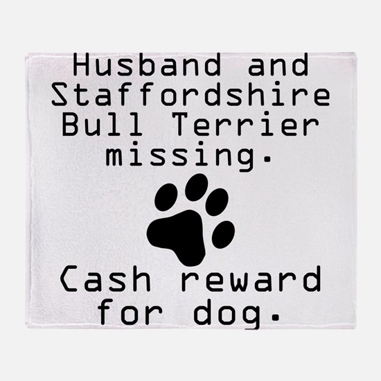 Husband And Staffordshire Bull Terrier Missing Thr