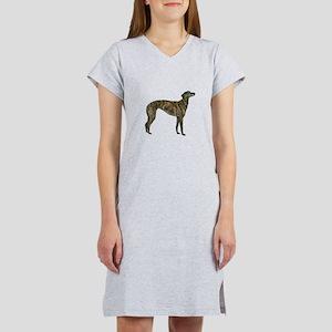 Greyhound (brindle) Women's Nightshirt