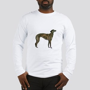 Greyhound (brindle) Long Sleeve T-Shirt
