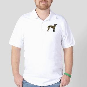 Greyhound (brindle) Golf Shirt