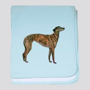 Greyhound (brindle) baby blanket