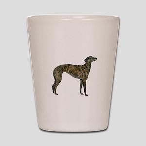 Greyhound (brindle) Shot Glass