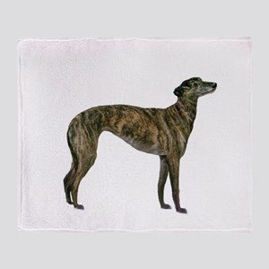 Greyhound (brindle) Throw Blanket