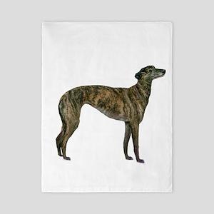 Greyhound (brindle) Twin Duvet