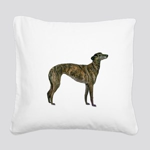 Greyhound (brindle) Square Canvas Pillow