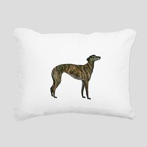 Greyhound (brindle) Rectangular Canvas Pillow