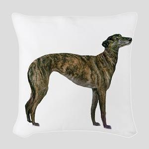 Greyhound (brindle) Woven Throw Pillow