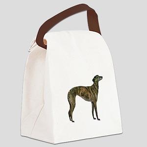Greyhound (brindle) Canvas Lunch Bag