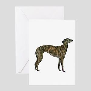 Greyhound (brindle) Greeting Card