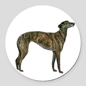 Greyhound (brindle) Round Car Magnet
