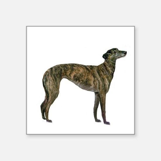 """Greyhound (brindle) Square Sticker 3"""" x 3"""""""