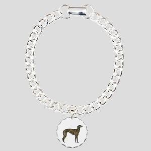 Greyhound (brindle) Charm Bracelet, One Charm