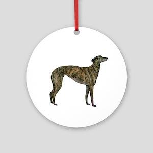 Greyhound (brindle) Ornament (round)