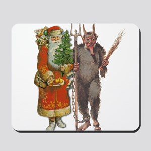 Krampus And Santa Claus Are Here Mousepad