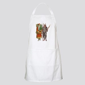 Krampus And Santa Claus Are Here Apron