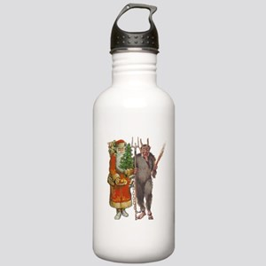 Krampus And Santa Claus Are Here Sports Water Bott