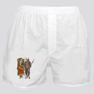 Krampus And Santa Claus Are Here Boxer Shorts