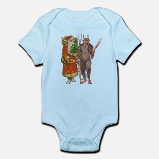 Krampus And Santa Claus Are Here Body Suit