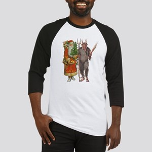 Krampus And Santa Claus Are Here Baseball Jersey