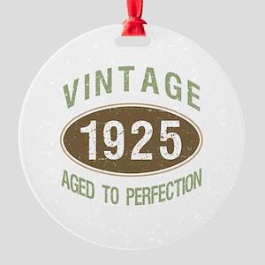1925 Vintage Birth Year Round Ornament