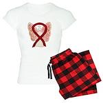 Burgundy Ribbon Awareness Women's Light Pajama