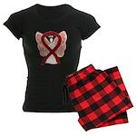 Burgundy Ribbon Awareness Women's Dark Pajamas