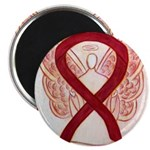 Burgundy Ribbon Awarness Angel Magnets (10pk)