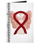 Burgundy Ribbon Awareness Angel Journal