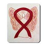 Burgundy Ribbon Awareness Angel Mousepad