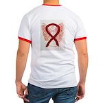 Burgundy Ribbon Awarness Angel T-Shirt