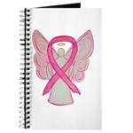 Breast Cancer Pink Awareness Ribbon Angel Journal