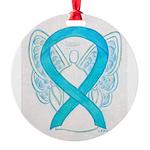 Turquoise Ribbon Angel Ornament