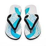 Turquoise Ribbon Angel Flip Flops
