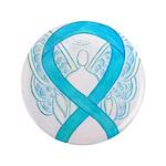 Turquoise Ribbon Angel 3.5