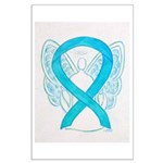 Turquoise Ribbon Angel Posters