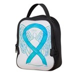 Turquoise Ribbon Angel Neoprene Lunch Bag