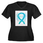 Turquoise Ribbon Angel Plus Size T-Shirt