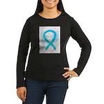 Turquoise Ribbon Angel Long Sleeve T-Shirt