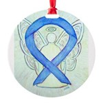 Blue Ribbon Angel Ornament