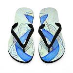 Blue Ribbon Angel Flip Flops