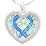 Blue Ribbon Angel Necklaces