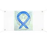 Blue Ribbon Angel Banner