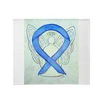 Blue Ribbon Angel Throw Blanket