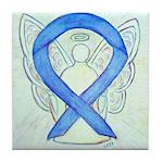 Blue Ribbon Angel Tile Coaster