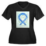 Blue Ribbon Angel Plus Size T-Shirt