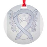 Gray Ribbon Angel Ornament