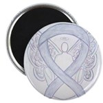 Gray Ribbon Angel Magnets