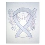 Gray Ribbon Angel Posters