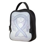 Gray Ribbon Angel Neoprene Lunch Bag