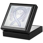Gray Ribbon Angel Keepsake Box